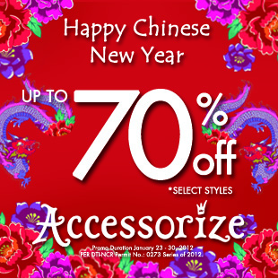 Accessorize Chinese New Year Sale