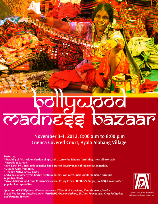 Bollywood Madness Bazaar Excusive women's club holds annual fundraising bazaar in Ayala Alabang