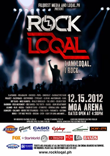 ROCK LOQAL concert at the MOA Arena on December 15 at 4PM